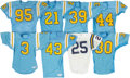 Football Collectibles:Uniforms, 1980s and 1990s UCLA Bruins Game Worn Jerseys Lot of 8 - Kindler Collection....