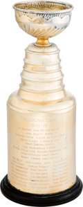 Hockey Collectibles:Others, 1974-75 Philadelphia Flyers Mini Stanley Cup Championship Trophy Presented to Bernie Parent....
