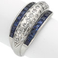 Estate Jewelry:Boxes, Diamond, Sapphire, Platinum Ring. ...