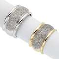 Estate Jewelry:Lots, Lot of Diamond, White and Yellow Gold Rings. ... (Total: 2 Items)