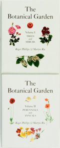 Books:Natural History Books & Prints, [Botany]. Roger Phillips and Martyn Rix. The Botanical Garden, Vols. I & II. [Buffalo:] Firefly Books, [2002]. ... (Total: 2 Items)