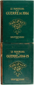 Books:World History, [World War I]. Henri Lévéque. Le Panorama de la Guerre de 1914 - 15, Vols. I & II. [Paris:] Jules Tallandier, [1... (Total: 2 Items)
