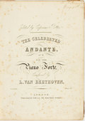 Books:Music & Sheet Music, [Sheet Music]. Ludwig Von Beethoven. Collected Piano Forte Works of Beethoven. Various publishers, circa nineteenth-century....