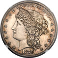 Patterns, 1879 $1 Metric Dollar, Judd-1617, Pollock-1813, R.4 -- Improperly Cleaned -- NGC Details. Proof....