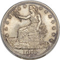 Trade Dollars, 1876 T$1 Type One Obverse, Type Two Reverse, MS64 PCGS....