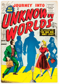 Journey Into Unknown Worlds #37 (Atlas, 1955) Condition: VF