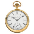 Timepieces:Pocket (pre 1900) , Elgin 21 jewel 18 Size Open Face Pocket Watch. ...