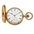 Timepieces:Pocket (pre 1900) , Illinois 10k Gold 11 Jewels Transitional Hunters Case Pocket Watch....