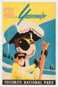 Antiques:Decorative Americana, Colorful Yosemite Ski Poster....
