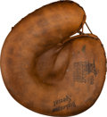 Baseball Collectibles:Others, Circa 1929 Roger Bresnahan Coaching Used Catcher's Mitt....