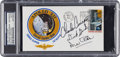 """Explorers:Space Exploration, Apollo 12 Crew-Signed """"Type One"""" Insurance Cover Originally from the Personal Collection of Mission Commander Charles Conrad, ..."""