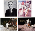 Autographs:Celebrities, Alan Bean Collection of Four Signed Photos. ... (Total: 4 Items)