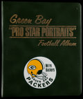 Football Collectibles:Photos, 1970 Clark Oil Green Bay Packers Portraits and Album (8)....