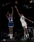 Basketball Collectibles:Photos, Bill Russell and Oscar Robertson Multi Signed Oversized PhotographsLot of 2....