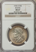 Commemorative Silver, 1935-D 50C Boone MS67 NGC....