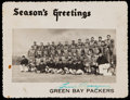 Football Collectibles:Others, Early 1950s Gene Ronzani Signed Green Bay Packers Christmas Card -Only Example Known!...
