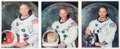 Autographs:Celebrities, Apollo 11 Set of Individually-Signed and Uninscribed WhiteSpacesuit NASA Color Photos, with COAs for the Armstrong. ...