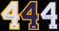 Basketball Collectibles:Uniforms, Jerry West Signed No. 4 Lot of 3....