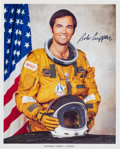 Autographs:Celebrities, Bob Crippen Signed NASA Spacesuit Color Photo. ...