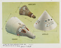 Autographs:Celebrities, NASA Pad Leader Guenter Wendt Signed Color Photo of the Mercury,Gemini, and Apollo Spacecraft. ...