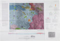 """Autographs:Celebrities, Charlie Duke Signed Apollo 16 Large Color 1972 Pre-Mission""""Geologic Map of Part of the Descartes Region of the Moon""""...."""