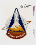 Autographs:Celebrities, Space Shuttle Columbia (STS-1) Original NASA MissionInsignia Color Photo Signed by Bob Crippen. ...