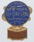 Baseball Collectibles:Others, 1964 Major League Baseball All Star Game Press Pin - Sourced fromFamily of Peter and George Vescey....