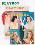 Magazines:Miscellaneous, Playboy 1956 Complete Year Group (HMH Publishing, 1956) Condition:Average GD/VG.... (Total: 12 )