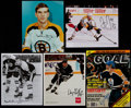 Hockey Collectibles:Photos, Hockey Greats Signed Magazine Covers and Photographs Lot of 5....