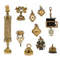 Timepieces:Watch Chains & Fobs, An Assortment Of Ten Watch Chains and Fobs. ... (Total: 10 Items)