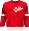 Hockey Collectibles:Uniforms, 1967-69 Gordie Howe Game Worn Detroit Red Wings Jersey....