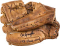 Baseball Collectibles:Others, 1971 Al Spangler Game Used Fielder's Glove & Son's Houston Colt45's Child's Uniform....