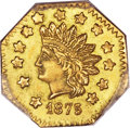 California Fractional Gold , 1875 $1 Indian Octagonal 1 Dollar, BG-1125, Low R.5, MS64 PCGS....