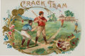 Baseball Collectibles:Others, 1890's Crack Team Cigar Box Inner Label....