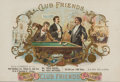 Baseball Collectibles:Others, 1896 Club Friends Cigar Box Inner Label....
