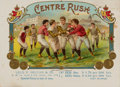 Baseball Collectibles:Others, 1890's Centre Rush Cigar Box Inner Label....