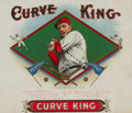 Baseball Collectibles:Others, 1909 Curve King Cigar Box Inner Label....