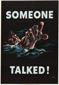 """Movie Posters:War, World War II Propaganda (U.S. Government Printing Office, 1942).OWI Poster # 18 (28"""" X 40"""") """"Someone Talked"""".. ..."""