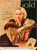 "Movie Posters:Miscellaneous, Carole Lombard for Old Gold (Old Gold Cigarettes, 1934).Advertising Poster (31"" X 42"").. ..."