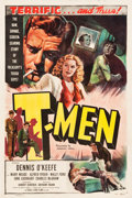 "Movie Posters:Film Noir, T-Men (Eagle Lion, 1947). One Sheet (27"" X 41"").. ..."