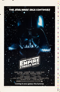 "The Empire Strikes Back (20th Century Fox, 1980). Printer's Proof One Sheet (29.5"" X 45"") Advance White Title..."