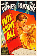 "Movie Posters:War, This Above All (20th Century Fox, 1942). One Sheet (27"" X 41"")Style B.. ..."