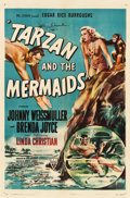 """Movie Posters:Adventure, Tarzan and the Mermaids (RKO, 1948). Autographed One Sheet (27"""" X 41"""").. ..."""