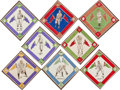 Autographs:Sports Cards, 1912 B18 Baseball Blankets Collection (18)....