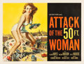 "Movie Posters:Science Fiction, Attack of the 50 Foot Woman (Allied Artists, 1958). Half Sheet (22""X 28"").. ..."