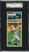 Baseball Cards:Singles (1950-1959), 1955 Topps Double Headers Ted Williams/Smith #69/70 SGC 96 Mint 9 -Pop Three, None Higher! ...