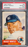 Baseball Cards:Singles (1950-1959), 1953 Topps Mickey Mantle #82 PSA NM-MT 8 (OC)....