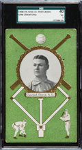 Baseball Cards:Singles (Pre-1930), 1908/09 Rose Company Sam Crawford SGC 40 VG 3 - The Only SGC andPSA Recorded Example! ...