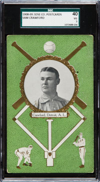 1908/09 Rose Company Sam Crawford SGC 40 VG 3 - The Only SGC and PSA Recorded Example!
