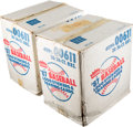 Baseball Cards:Unopened Packs/Display Boxes, 1987 Fleer Baseball Unopened Wax Cases (2) - Each With Twenty Wax Boxes. ...